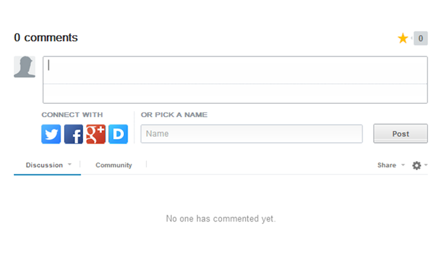 Disqus comment form