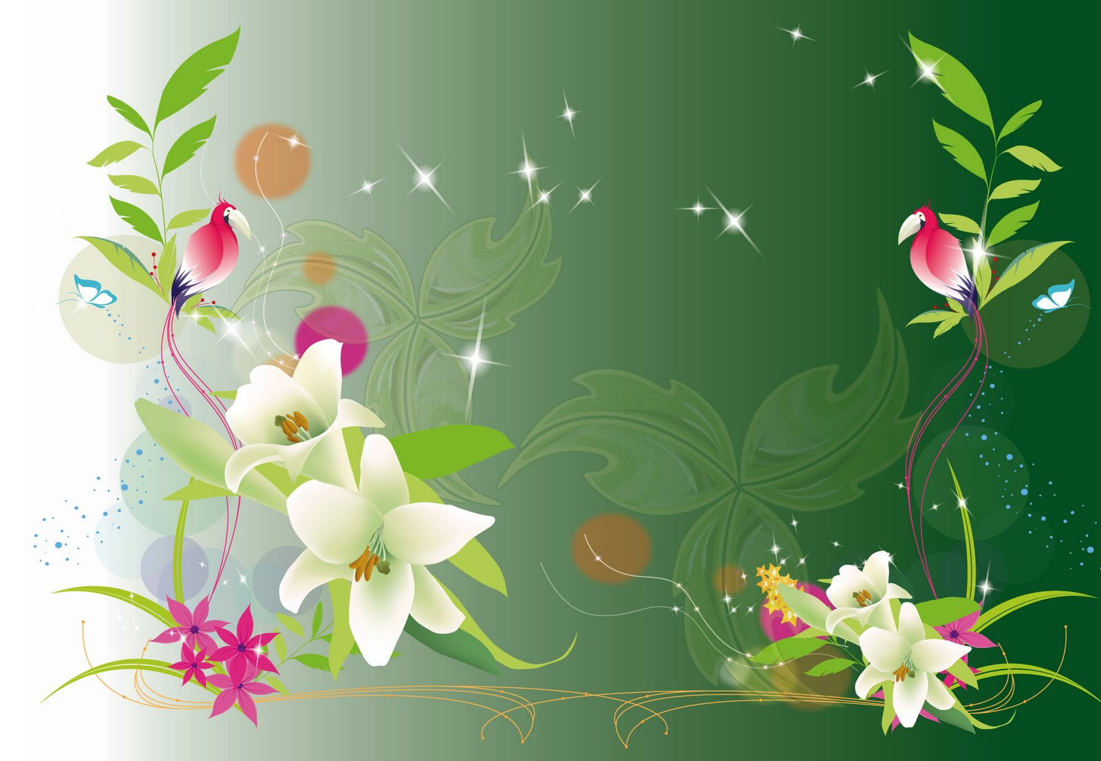 Birthday Cool Flower Designs Picture Wallpaper (1600 X