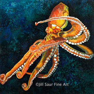 atlanta art galleries, atlanta artists, Jill Saur, octopus
