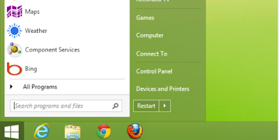 Start button menu windows 8