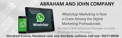 Providing Bulk Whatsapp Marketing & Promotion - Abraham & John Comapny