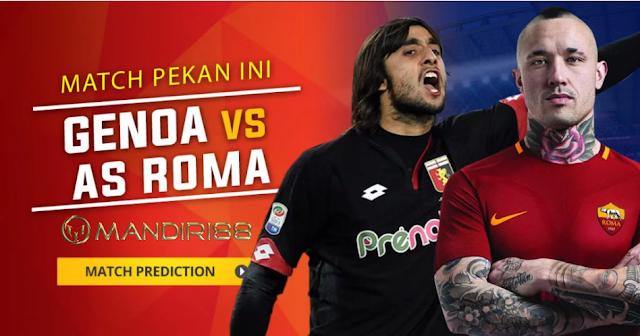 AS Roma akan bertandang ke markas tim peringkat  Berita Terhangat Prediksi Bola : Genoa Vs AS Roma , Minggu 26 November 2017 Pukul 21.00 WIB