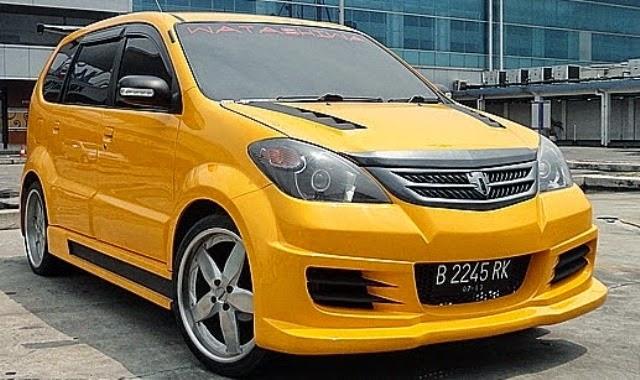 Modifikasi mobil Toyota Avanza Kuning