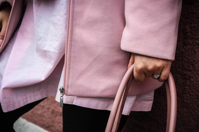 Boohoo Imogen pink wool coat