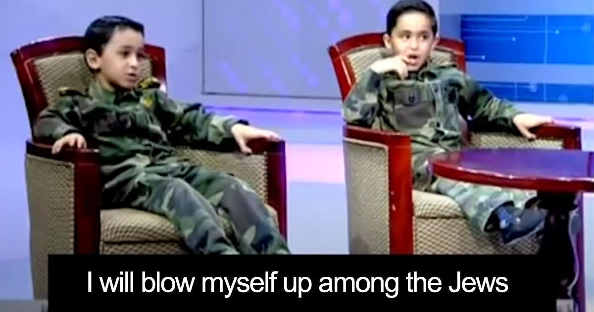 Palestinian Muslim children learn to kill Jews on TV - UN is silent to avoid damaging Islam's image
