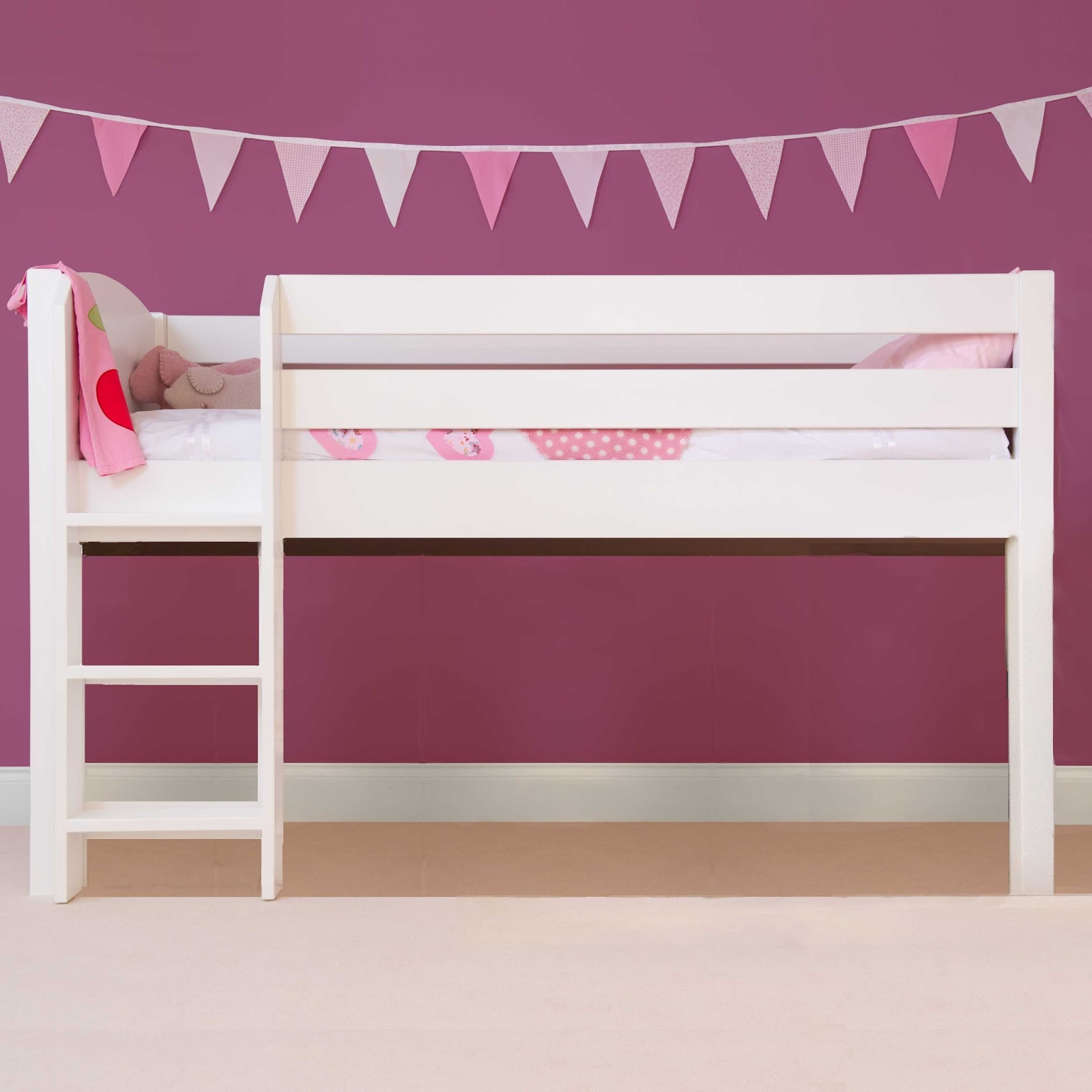 White 6 Cube Kids Toy Games Storage Unit Girls Boys: How To Create A Loft Style Kids Bed The Easy Way With