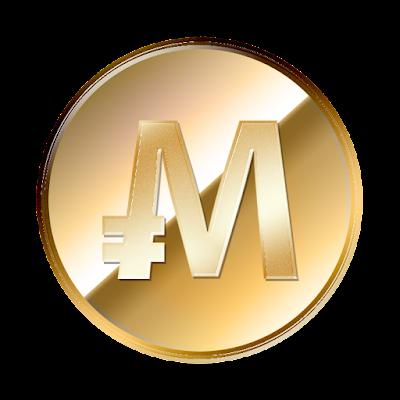 モナコイン(MonaCoin)裏面のフリー素材(金貨ver)