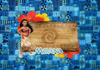 Para hacer invitaciones, tarjetas, marcos de fotos o etiquetas, para imprimir gratis de Moana.