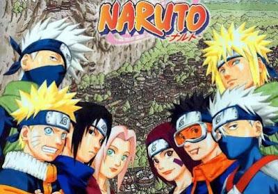 Dibujo de los personajes de Naruto