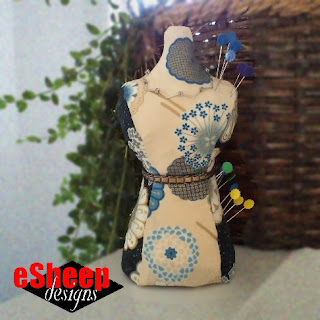 Mini Mannequin Pin Cushion crafted by eSheep Designs