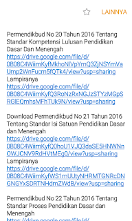 kumpulan Permendikbud terkait Kurikulum 2013