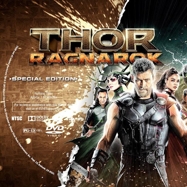 Thor Ragnarok DVD Label
