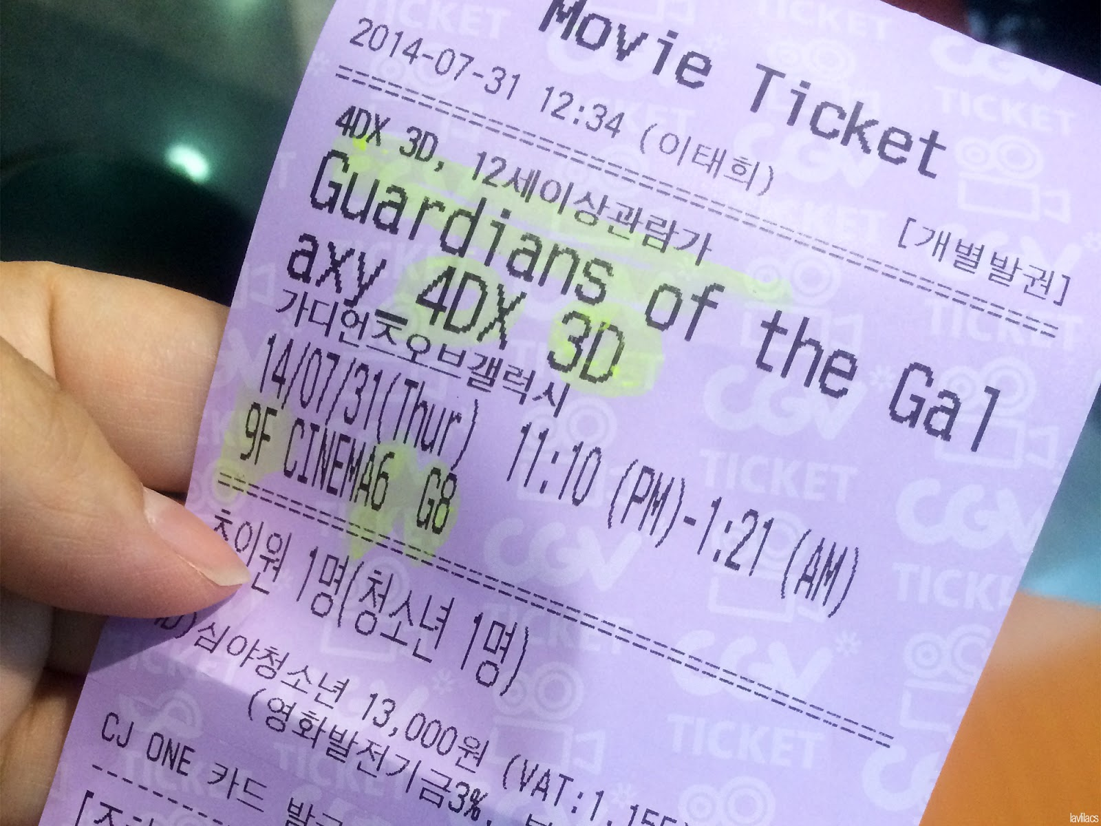 Seoul, Korea - Summer Study Abroad 2014 - Sinchon CGV Movie Theater Cinema - Guardians of the Galaxy in 4DX