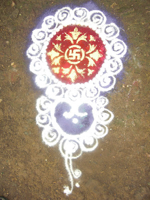 rangoli design with swastik