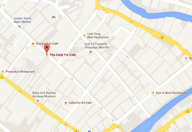 Malacca Cafe Guide - The Daily Fix Cafe Map