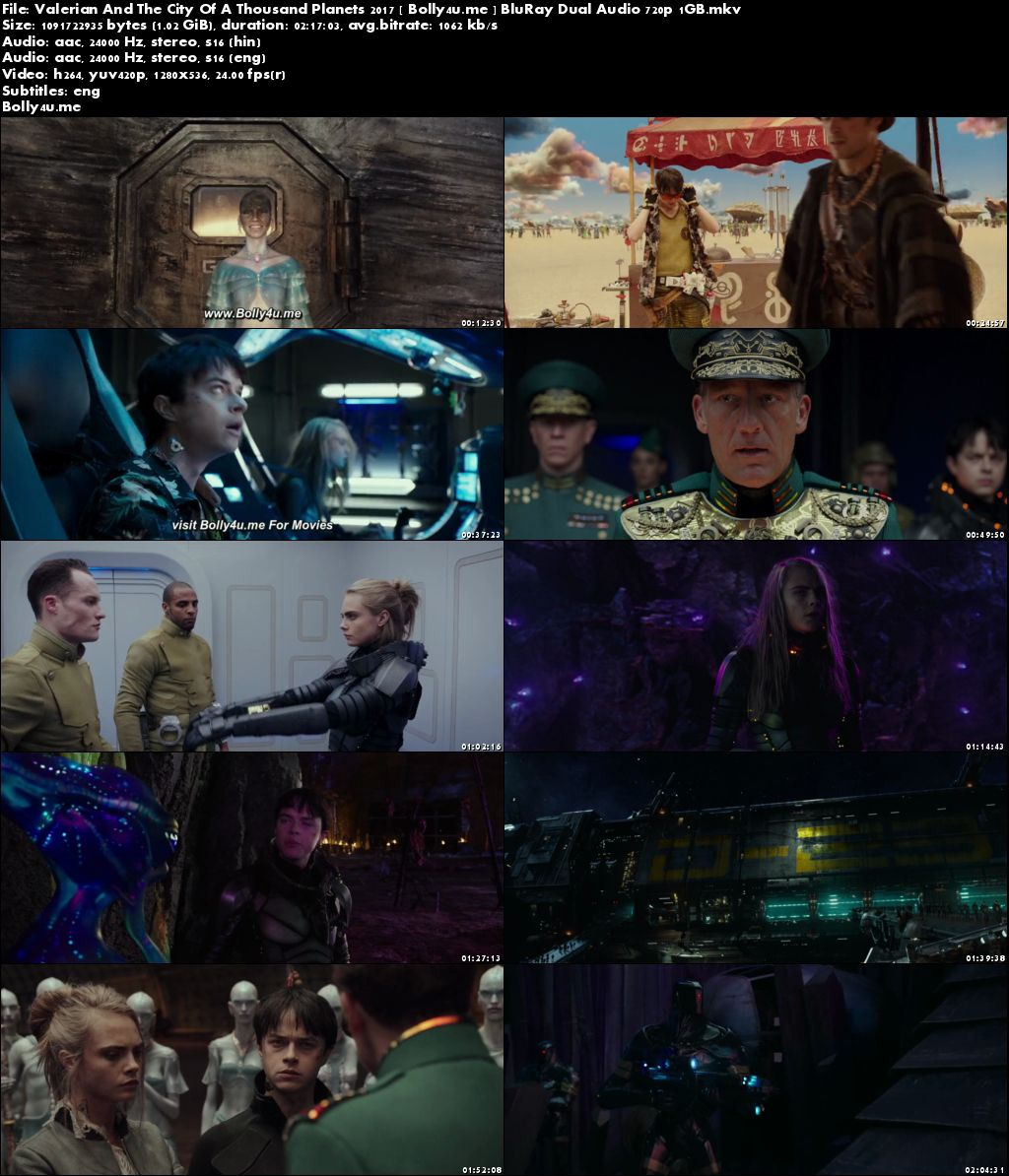 Valerian And The City Of A Thousand Planets 2017 BRRip 1GB Hindi Dual Audio 720p Download