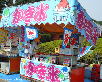 An ice cream kiosk at Nakamise Shopping arcade, Sensoji Temple, Japan