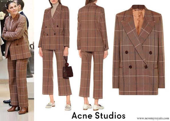 Crown Princess Victoria wore Acne Studios Wool and cotton-blend suit