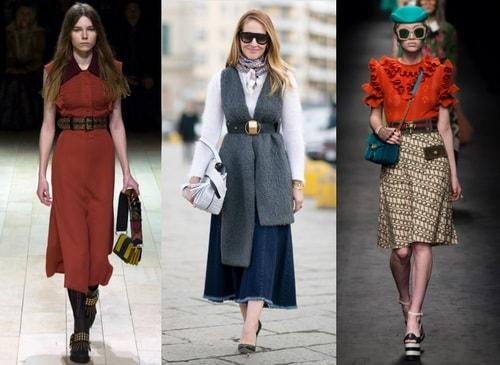 Belts as a fashion accessory