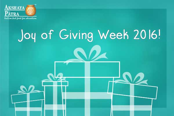 Joy of Giving 2016
