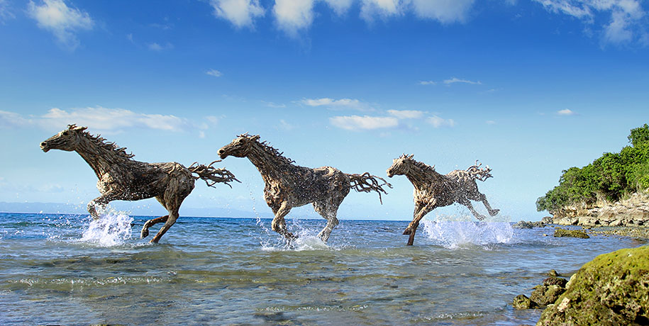 Sculptor Creates Incredible Life-Size Driftwood Animals
