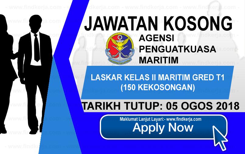 Jawatan Kerja Kosong Agensi Penguatkuasaan Maritim Malaysia logo www.ohjob.info www.findkerja.com ogos 2018