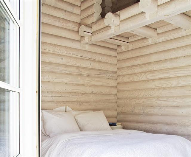 cabaña danesa teñida de luz chicanddeco
