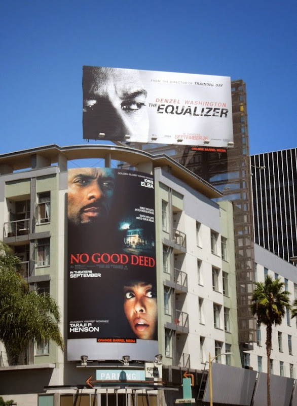 The Equalizer movie billboard