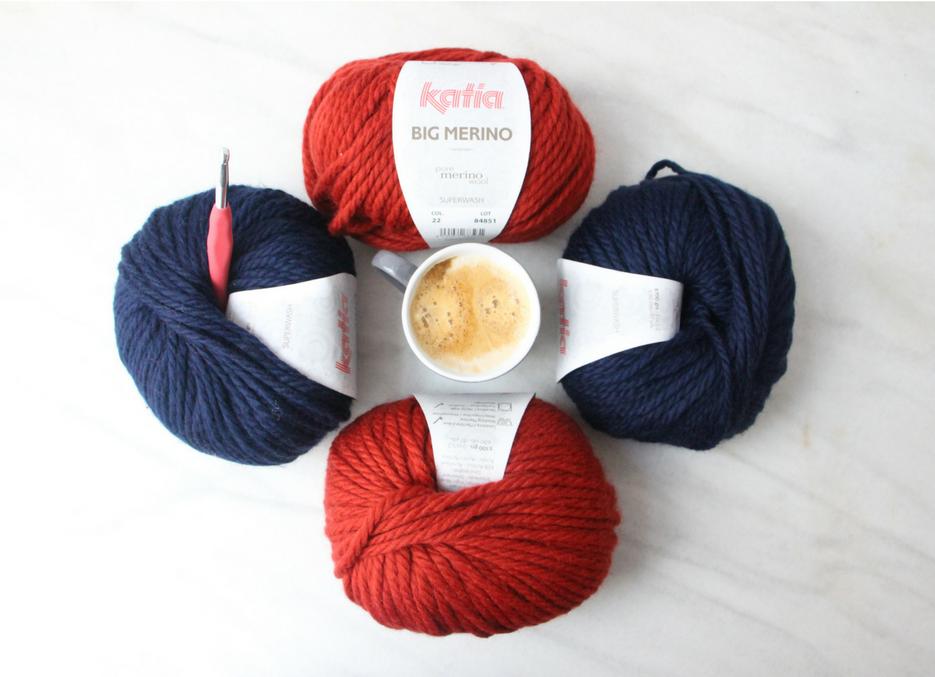 patron cuello crochet pretty anais lanas katia yarns