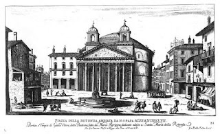 Giovanni Battista Falda's depiction of the church of Santa Maria della Rotonda, popularly known as the Pantheon