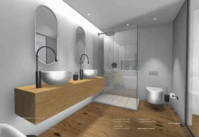 Minosa: Sydney City Apartment - Modern bathroom design ...