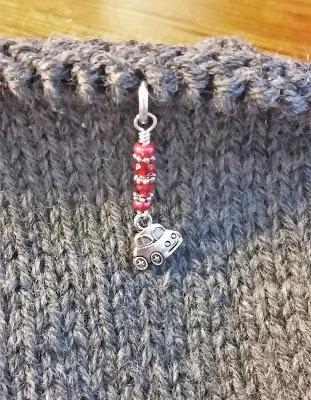 VW Beetle knitting stitch markers from Jill's Handmade Stuff