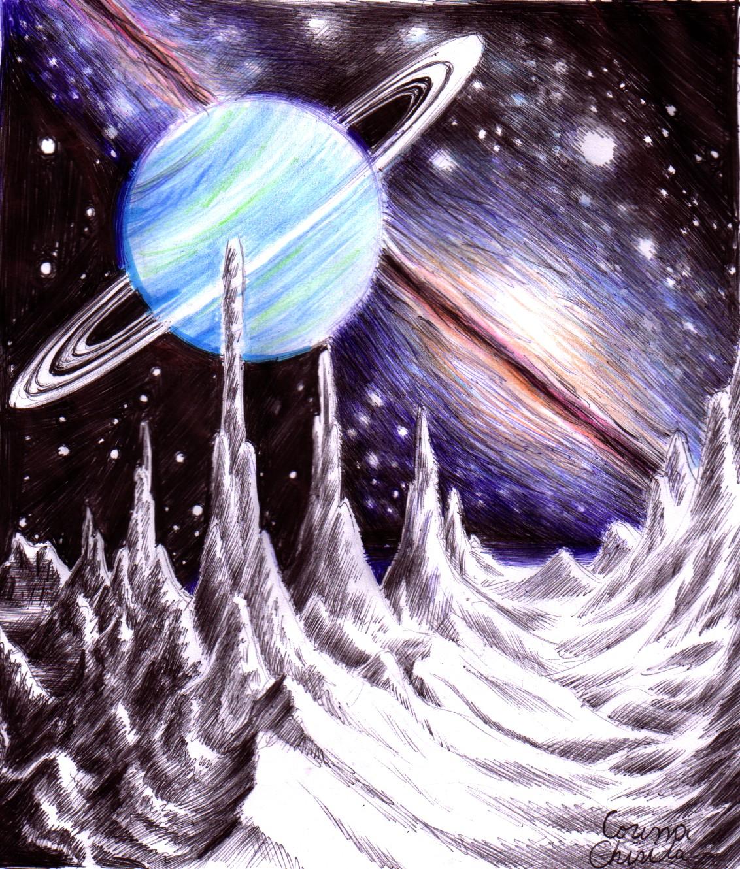 uranus planet drawings - photo #25