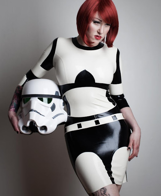 Latex-storm-trooper-cosplay skirt
