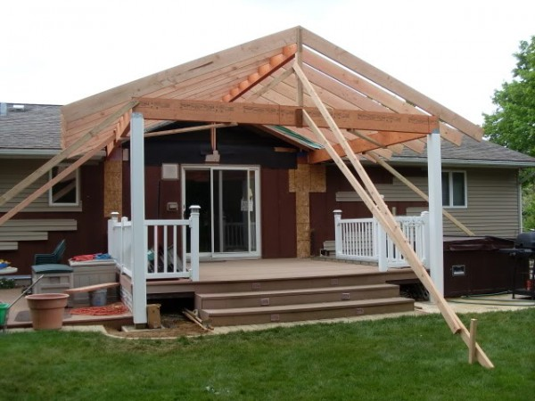 building a porch roof