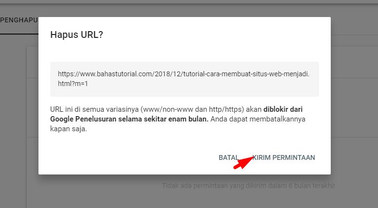 Menghapus URL Postingan Blog dari Google Penelusuran