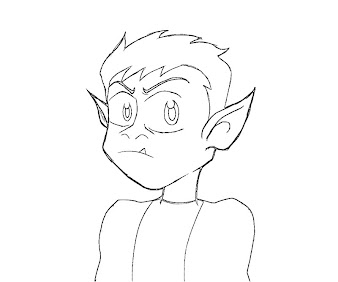 10 beast boy coloring page