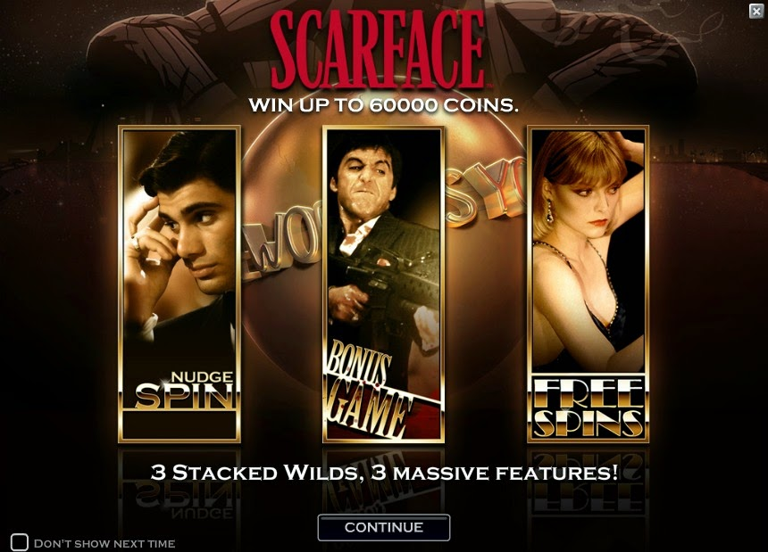 Scarface Video Slot Screen