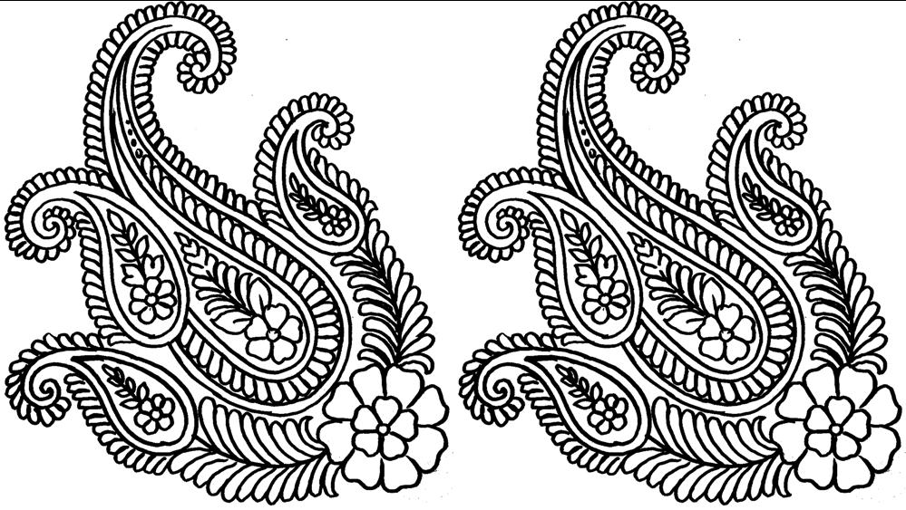 Saree Border Design Concept Lotus Flower Stock Vector (Royalty Free)  1505500835