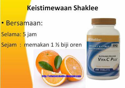vitamin c, shaklee, buah oren