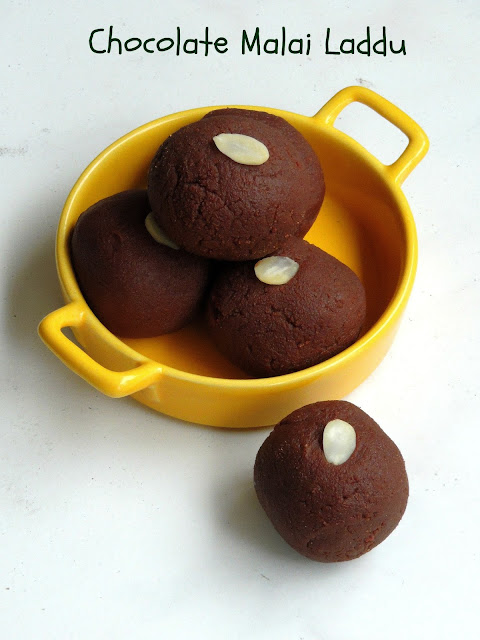 Chocolate Malai laddu, Paneer Chocolate Laddoo