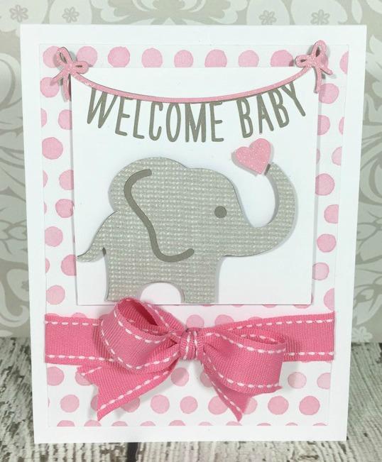 Courtney Lane Designs: Cricut Flower Market Baby Card