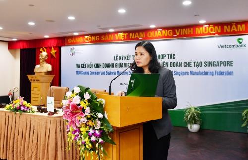 Ngân hàng Vietcombank và đối tác ở Singapore ký kết hợp tác với nhau
