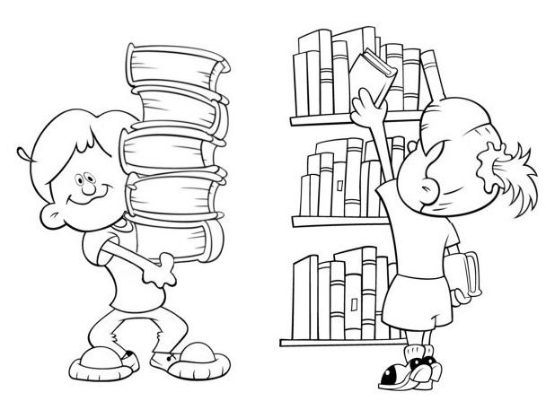 Niño Leyendo Un Libro Colouring Pages Page 2: Dia Do Livro Infantil Para Colorir