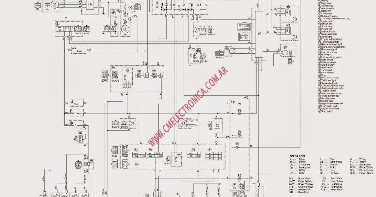 The Chop Shop: XVS650 Wiring Diagram