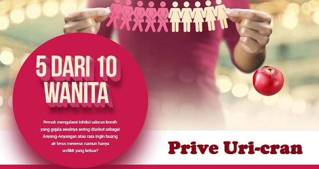 Prive Uri-cran, Solusi Tepat Mengatasi Resiko Anyang-anyangan Pada Kesehatan Wanita