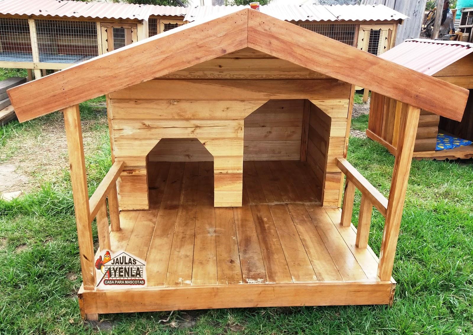 Casa de perro gigante doble servicio con balcon - Como hacer una casita para perros ...