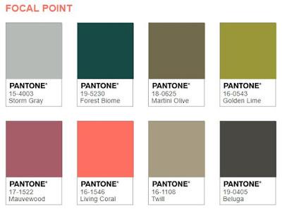 Pantone Focal Point Colors 2019