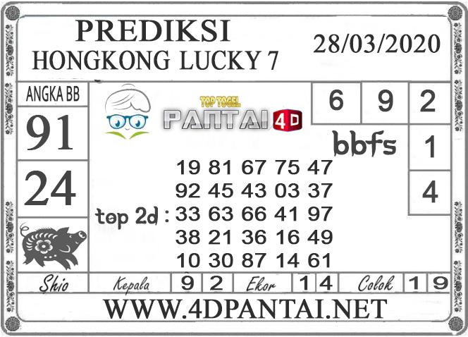 PREDIKSI TOGEL HONGKONG LUCKY 7 PANTAI4D 28 MARET 2020