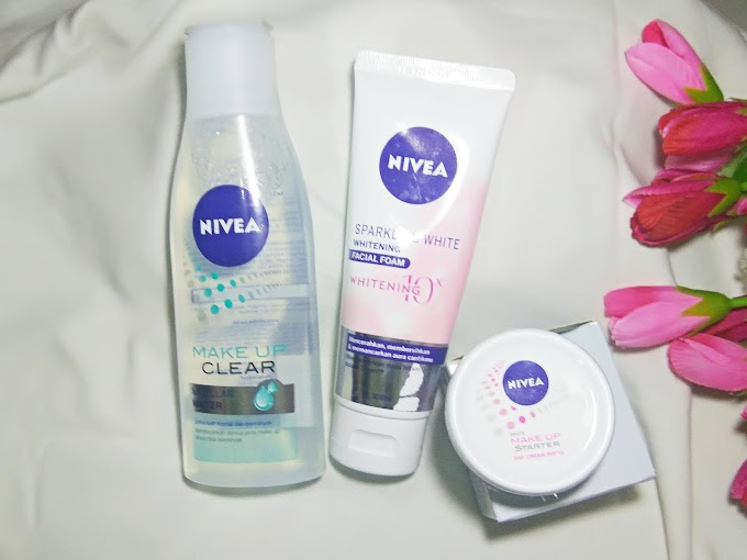 [REVIEW] Nivea Sparkling White Whitening Facial Foam dan Nivea White Make Up Starter Day Cream SPF 15